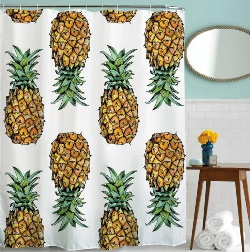 pineapple decor gifts shower curtain