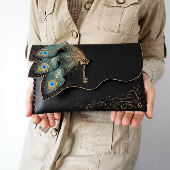 Steampunk-Gifts-Peacock-Clutch