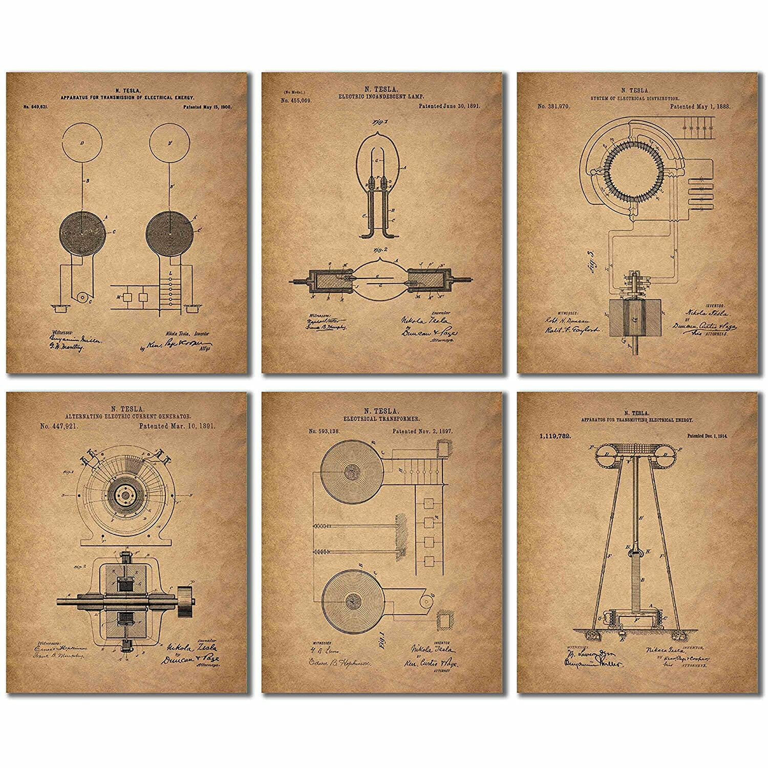 gifts-for-engineers-tesla-prints