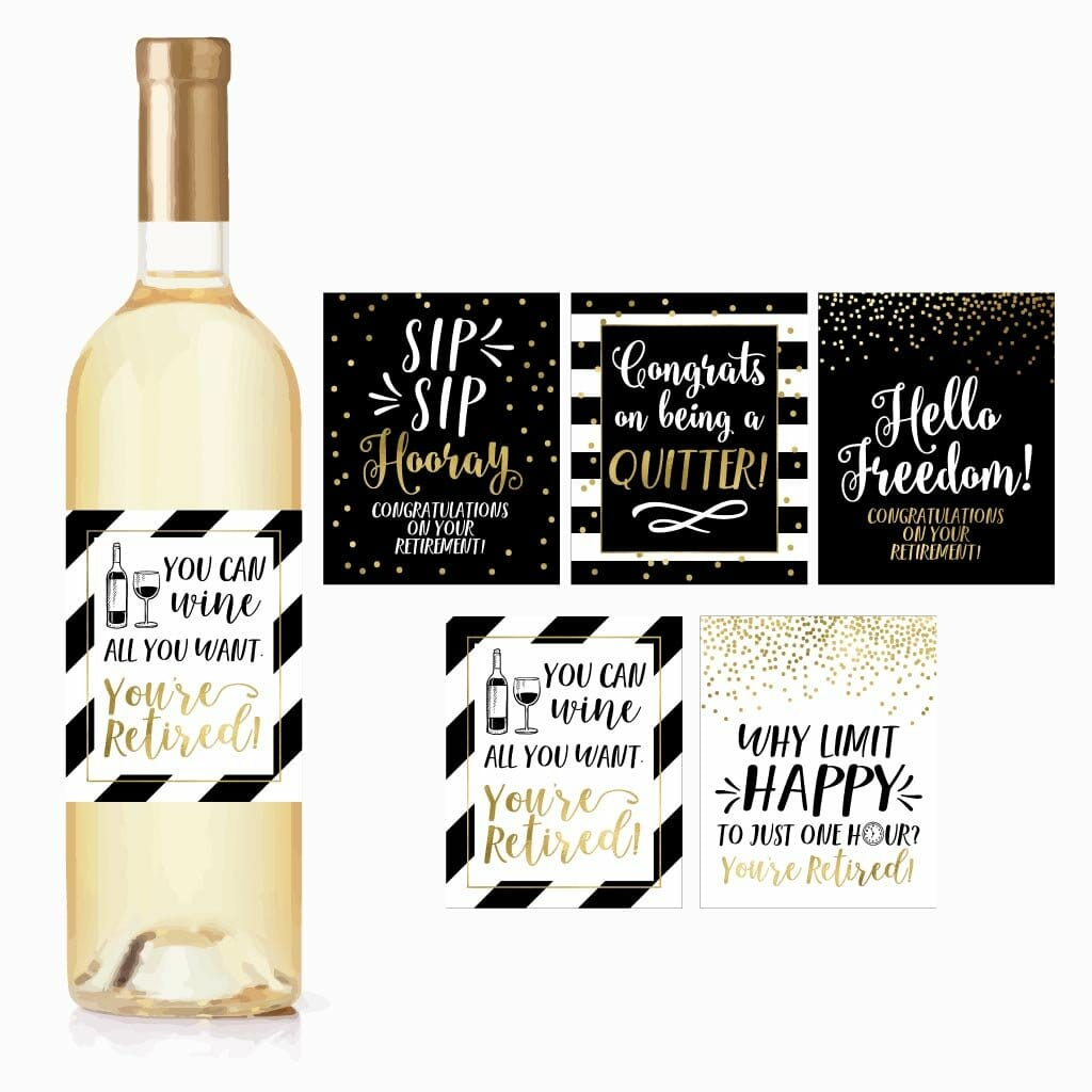 retirement-gifts-for-women-labels