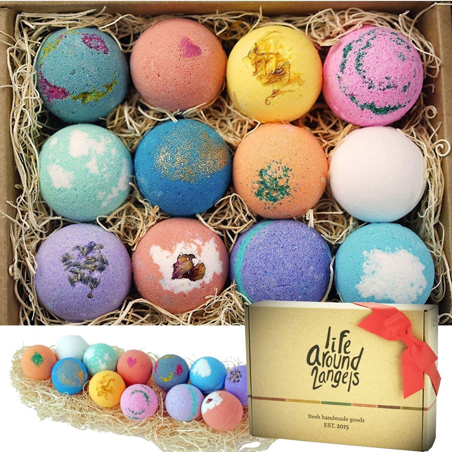 stress-relief-gifts-for-women-bath-bombs