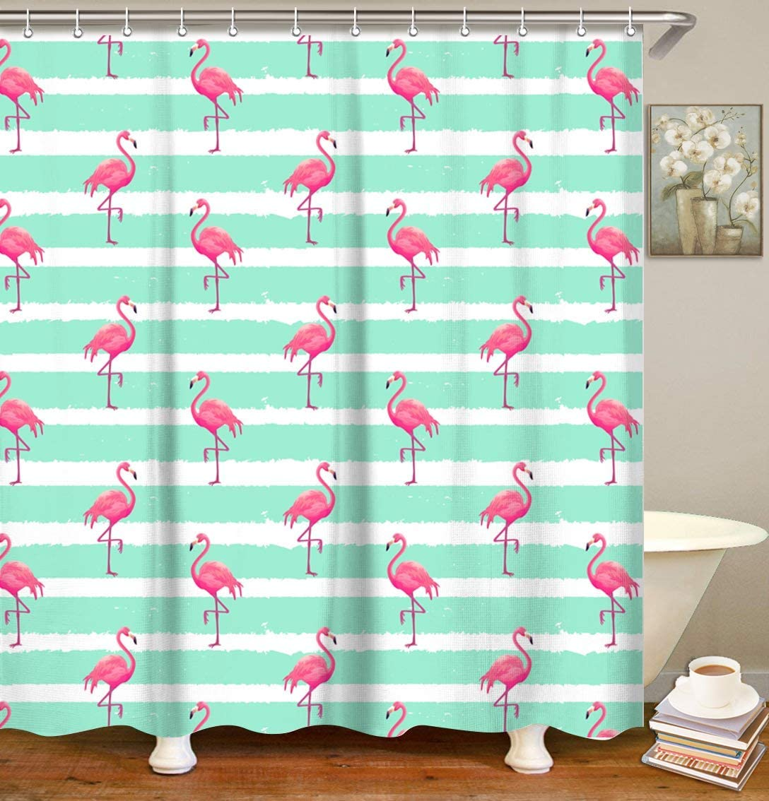 flamingo-gifts-shower-curtain