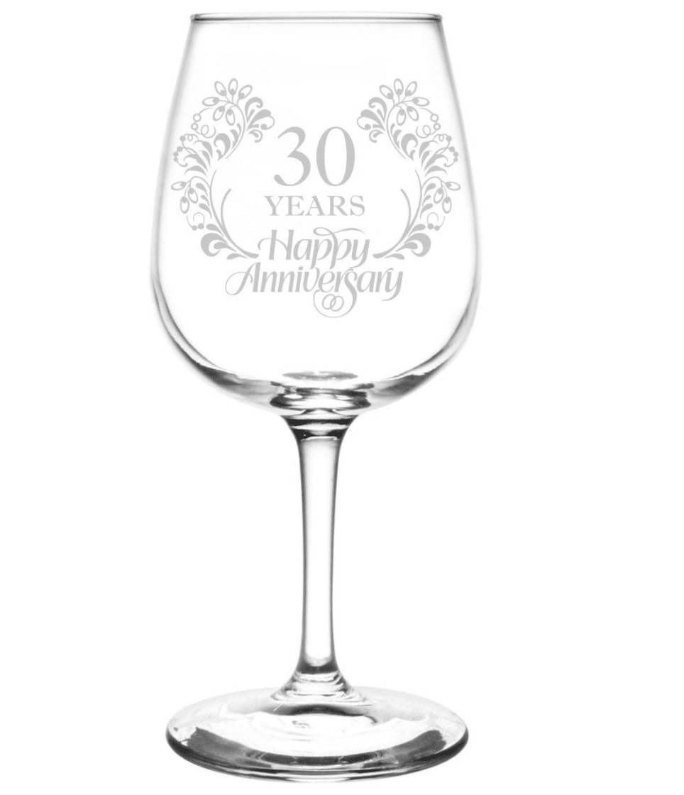 30th-anniversary-gifts-wine-glass