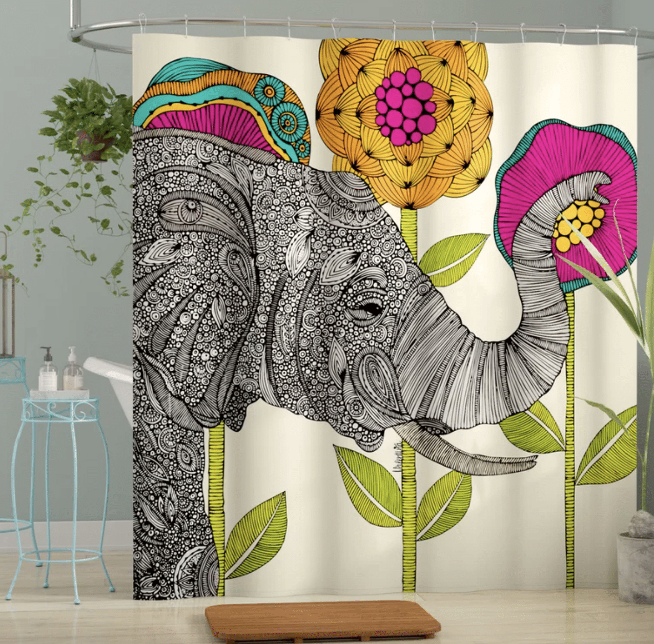 elephant-gifts-shower-curtain