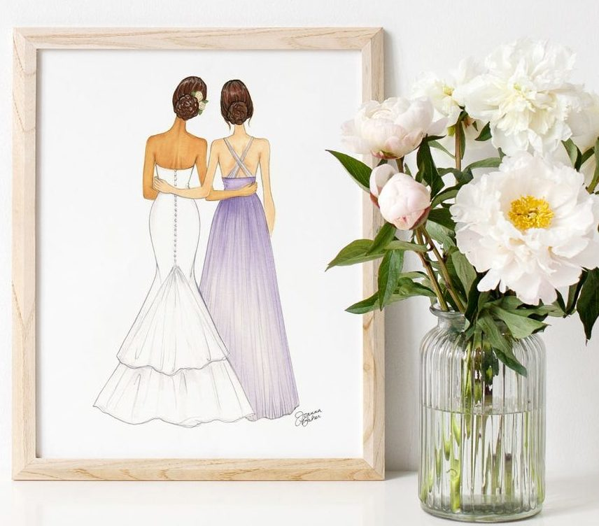 maid-of-honor-gifts-art-print