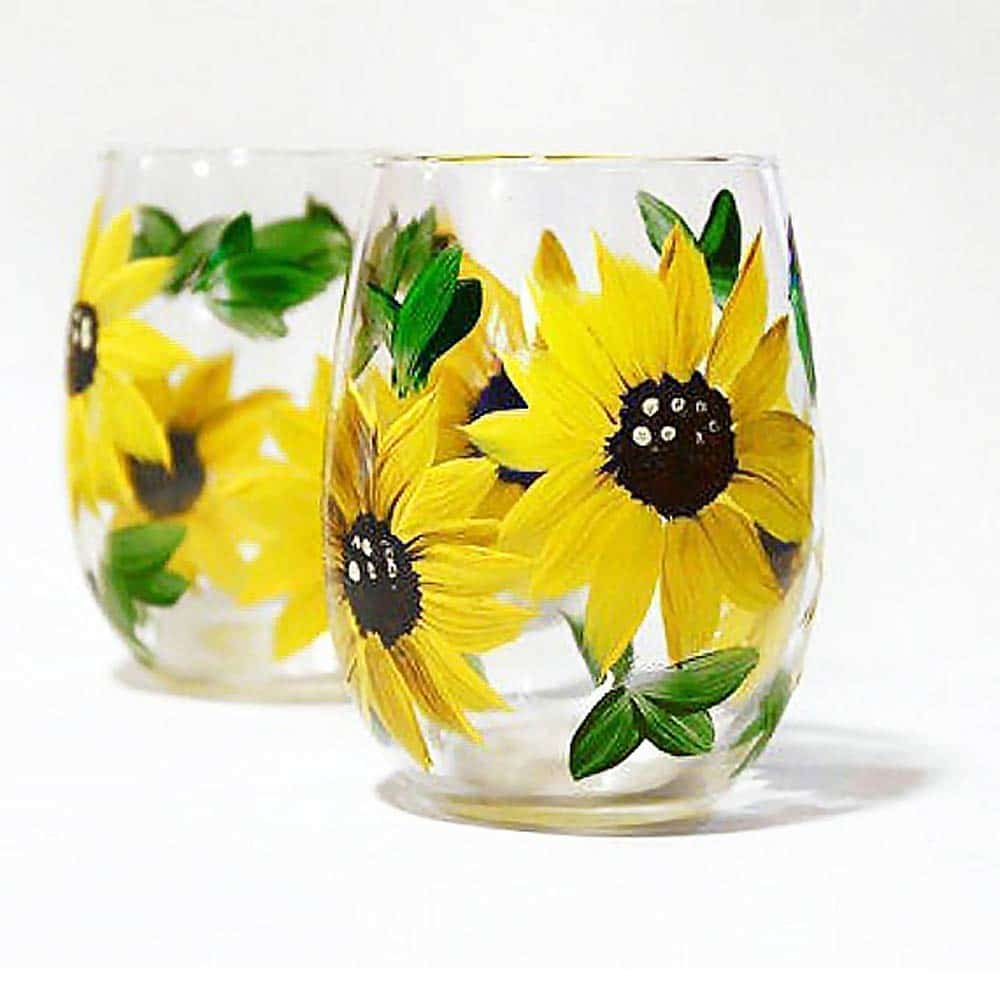 sunflower-gifts-wine-glass