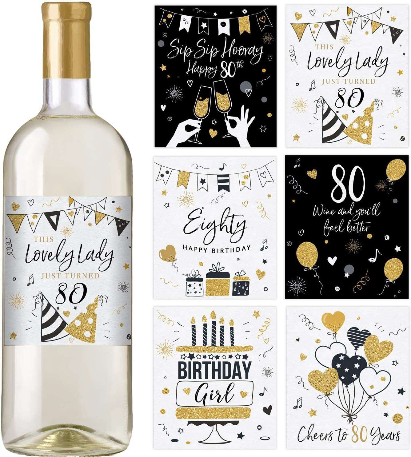 80th-birthday-gifts-wine-labels