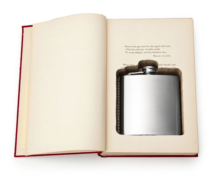 funny-retirement-gifts-flask-book-box