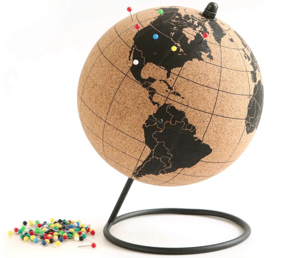 travel-gifts-for-men-mini-cork-globe