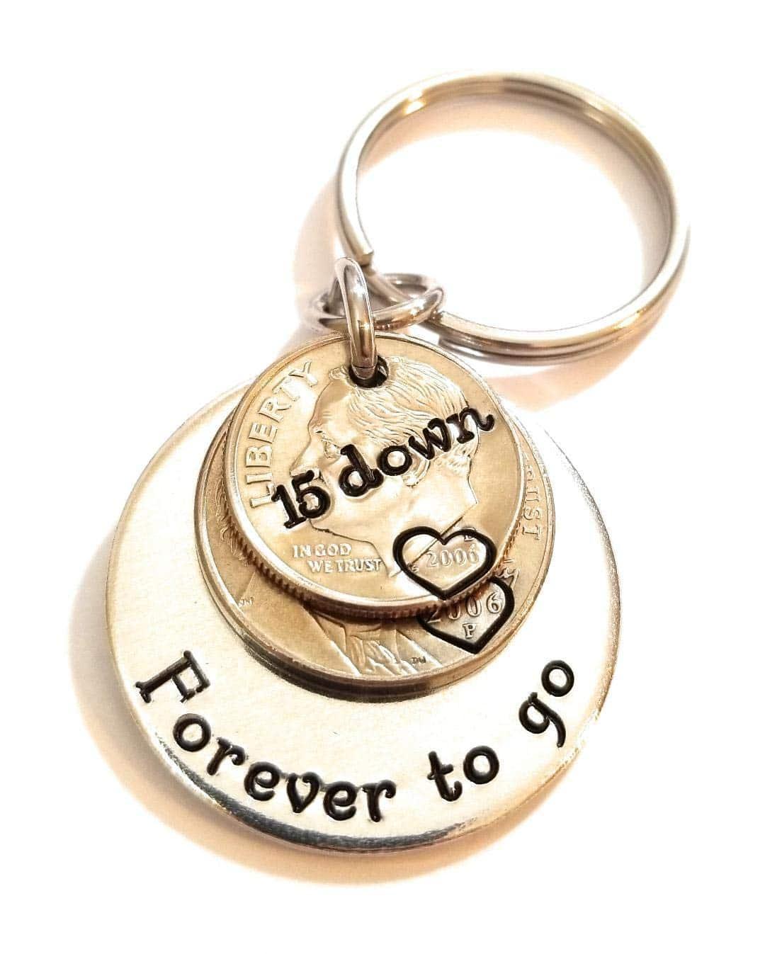 15th-anniversary-gifts-keychain