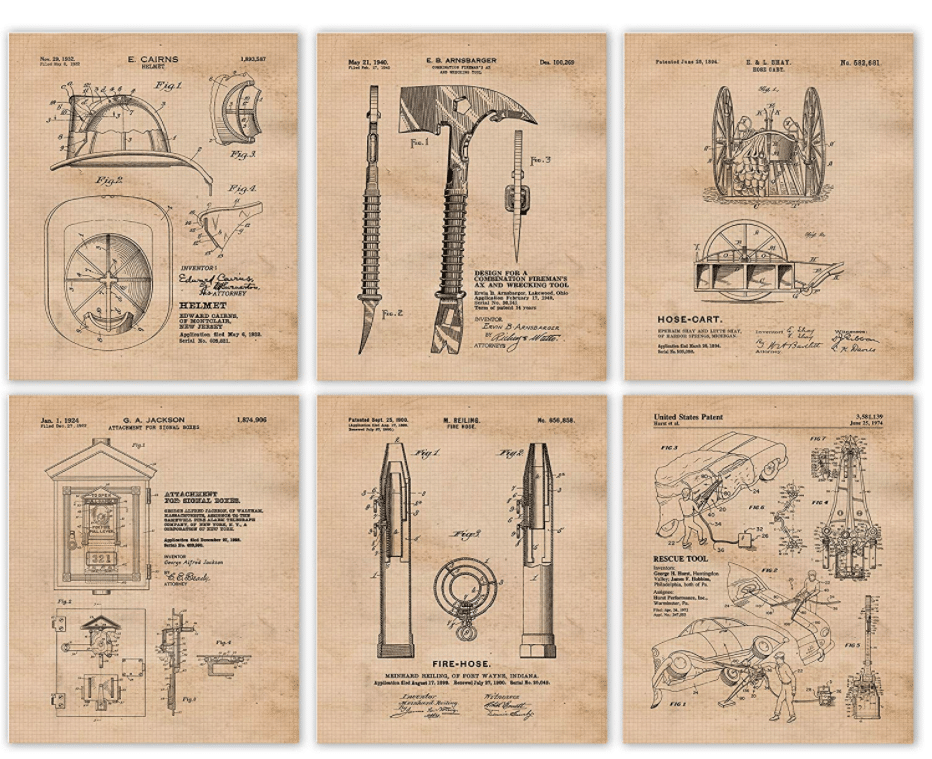 firefighter-gifts-patent-prints