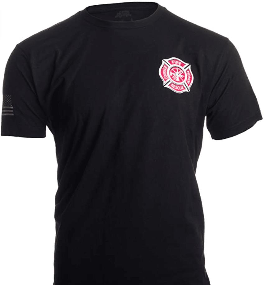 firefighter-gifts-maltese-cross-t-shirt