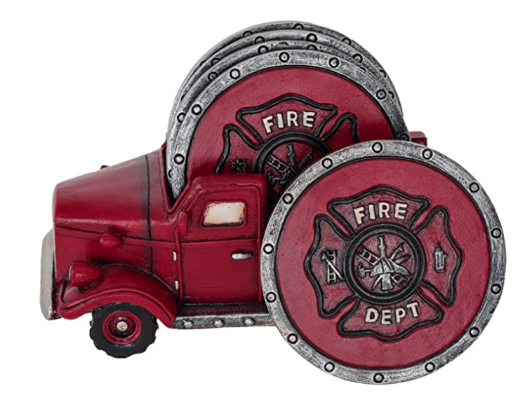 firefighter-gifts-fire-truck-coasters