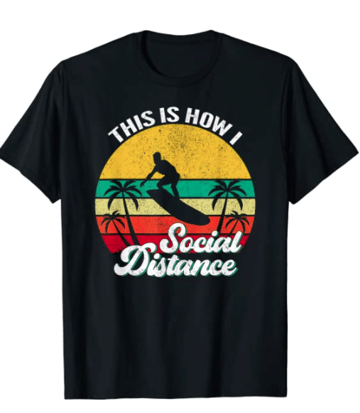 gifts-for-surfers-social-distance-t-shirt
