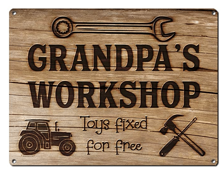 gifts-for-woodworkers-grandpas-workshop-metal-sign