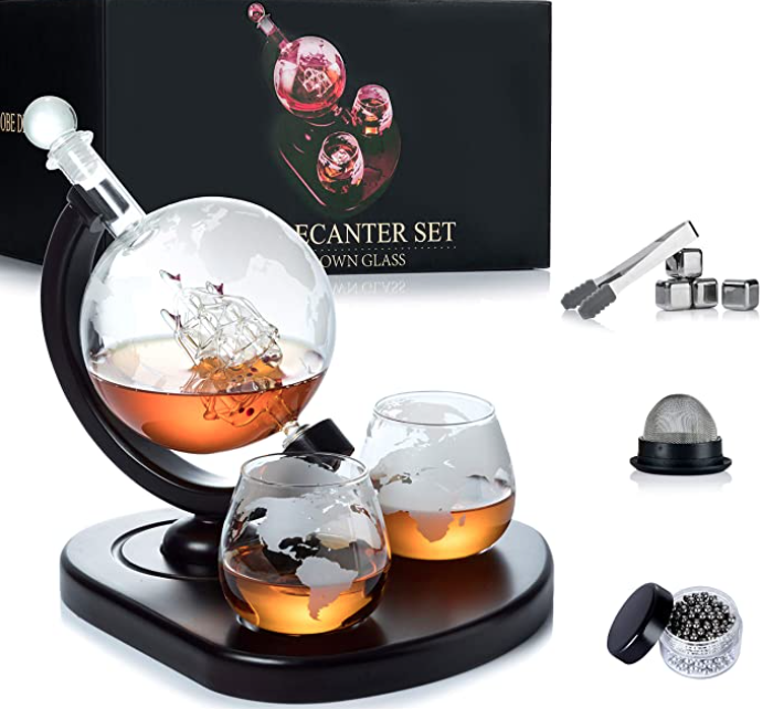 gifts-for-50th-birthday-whiskey-decanter-globe