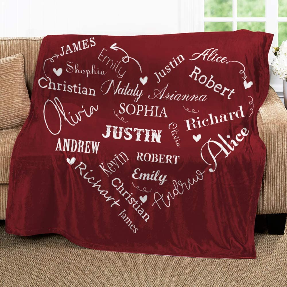 anniversary-gifts-for-parents-personzliaed-name-blanket
