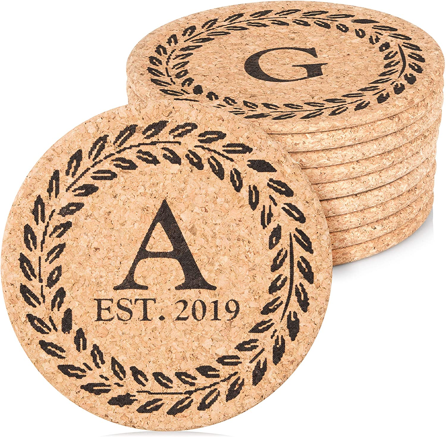 anniversary-gifts-for-parents-personalized-cork-hot-plates