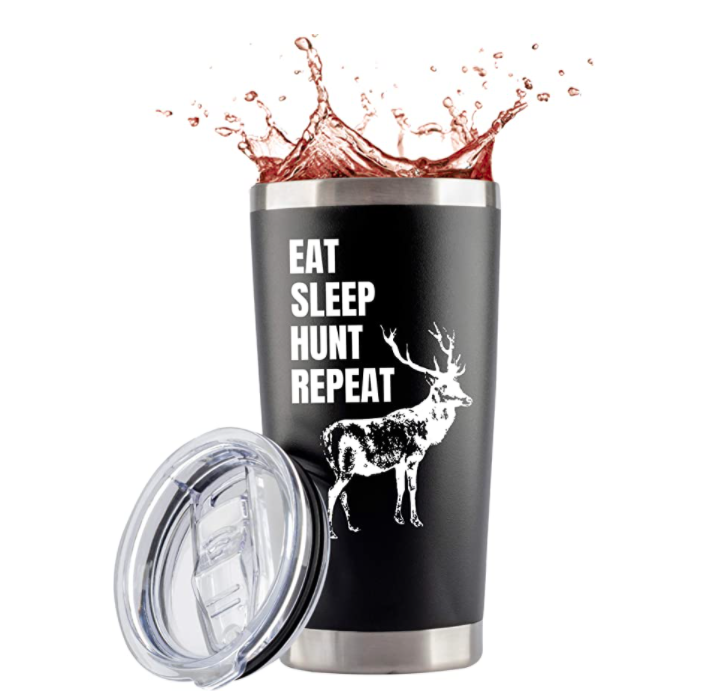 gifts-for-hunters-eat-sleep-hunt-tumbler