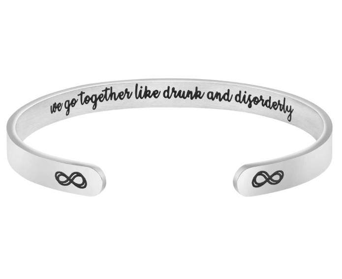 gifts-for-coworkers-we-go-together-bangle-bracelet
