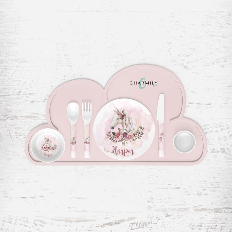 unicorn-gifts-for-girls-dinner-set