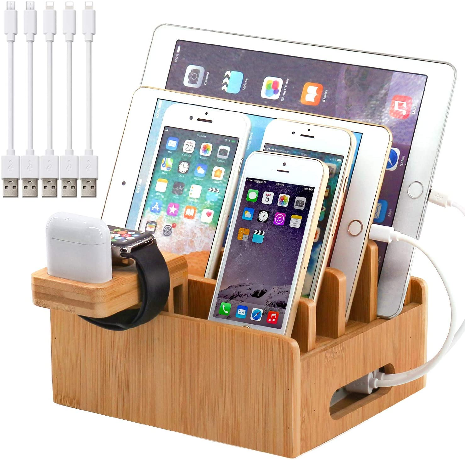 gifts-for-dad-from-daughter-bamboo-charging-station