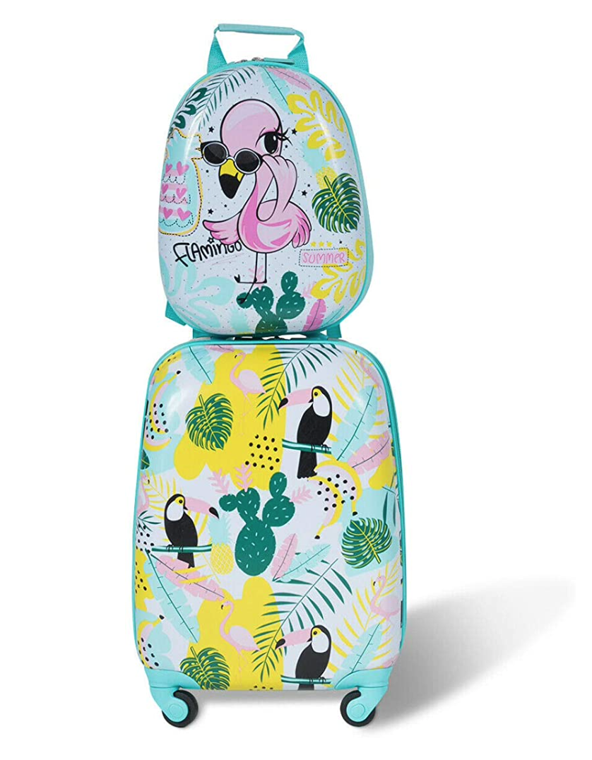 gifts-for-4-year-old-girls-flamingo-luggage-set