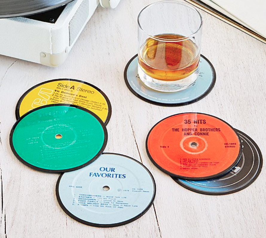 anniversary-gifts-for-him-record-coasters