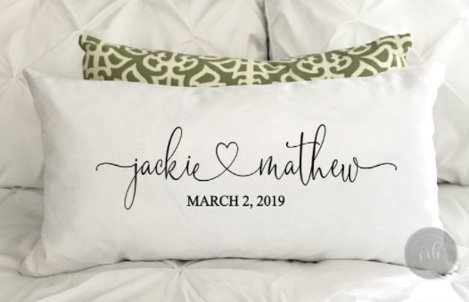 gifts-for-newlyweds-pillowcase