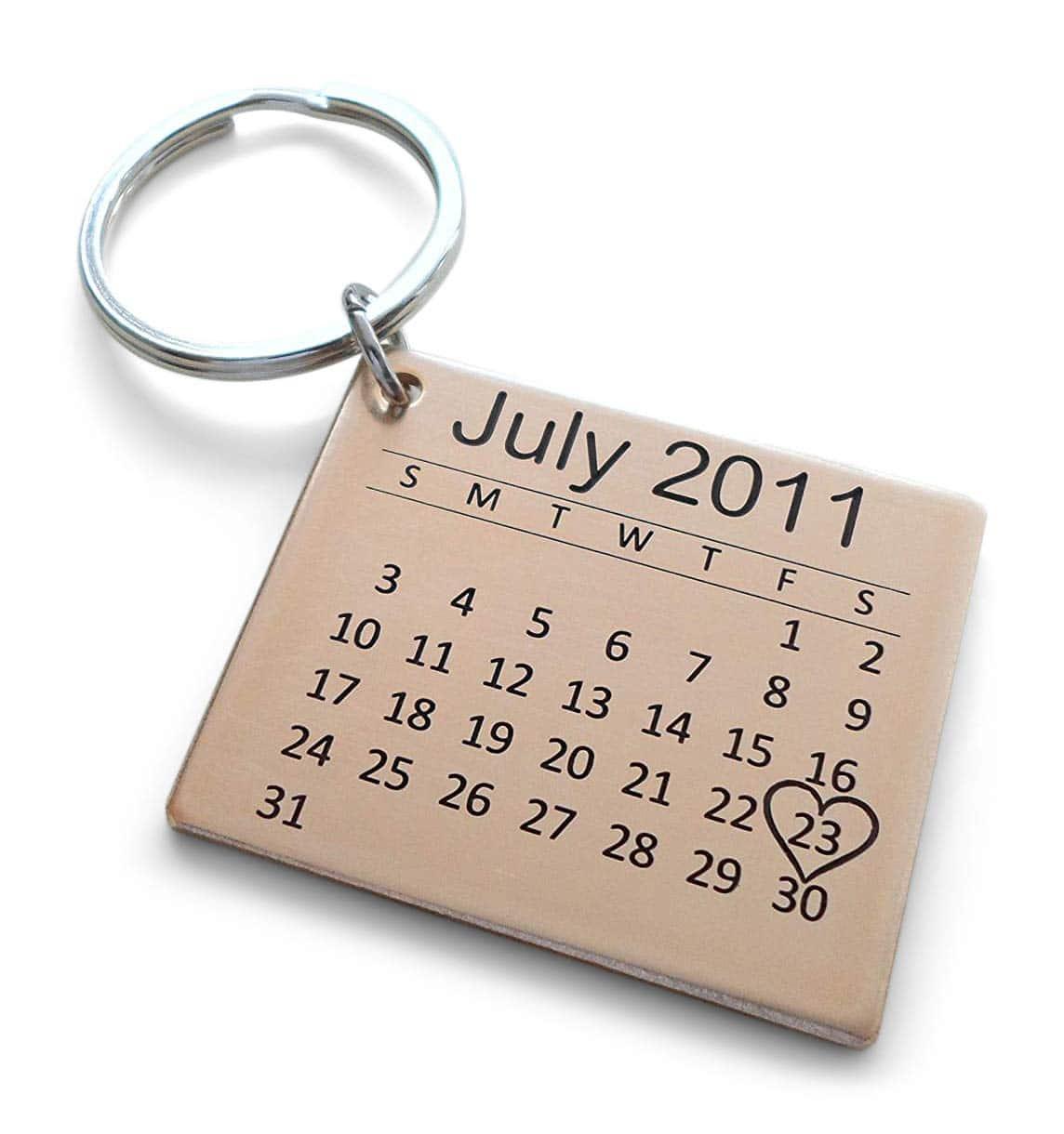 bronze-anniversary-gifts-key-chain