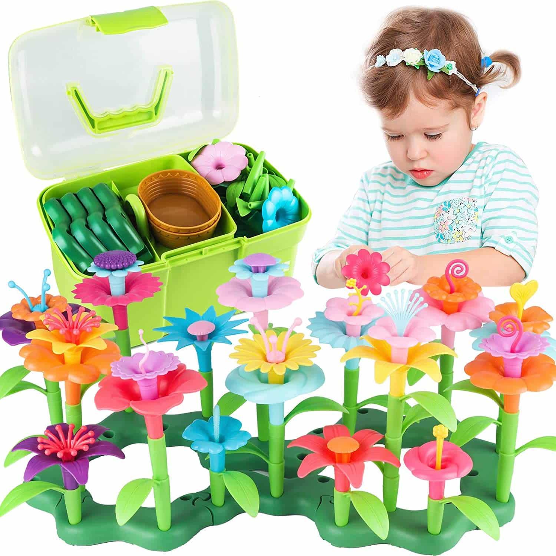 2-year-old-girls-flower-garden-building
