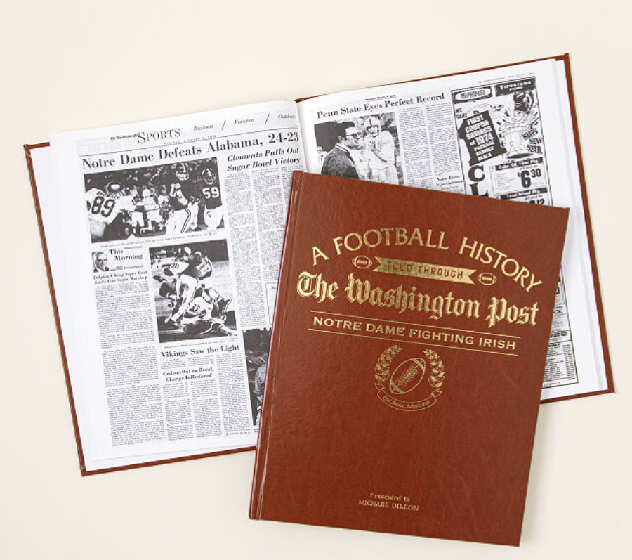football-gifts-college-history-book