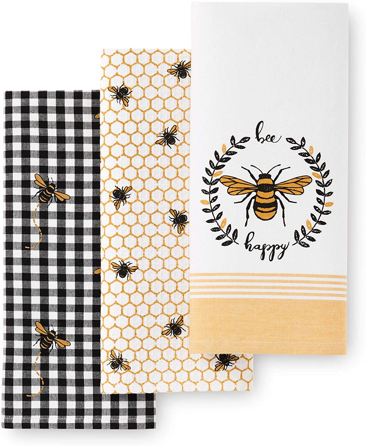 bee-lover-gifts-bee-happy-kitchen-towels