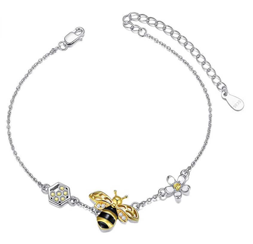bee-lover-gifts-sterling-silver-bracelet