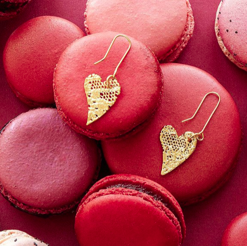 13th-anniversary-gifts-gold-dipped-earrings