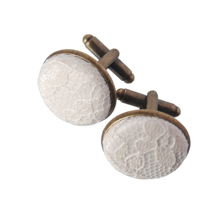 13th-anniversary-gifts-lace-cufflinks