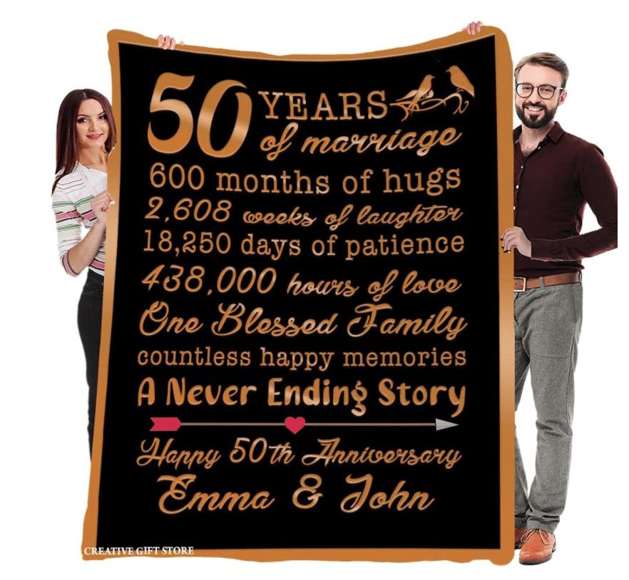 13th-anniversary-gifts-custom-blanket