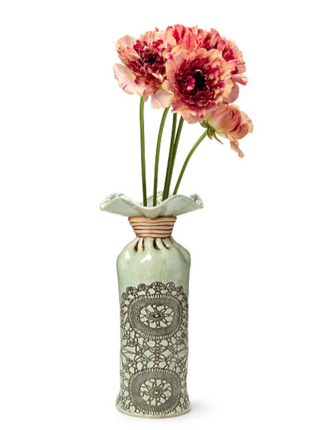 13th-anniversary-gifts-lace-pressed-vase