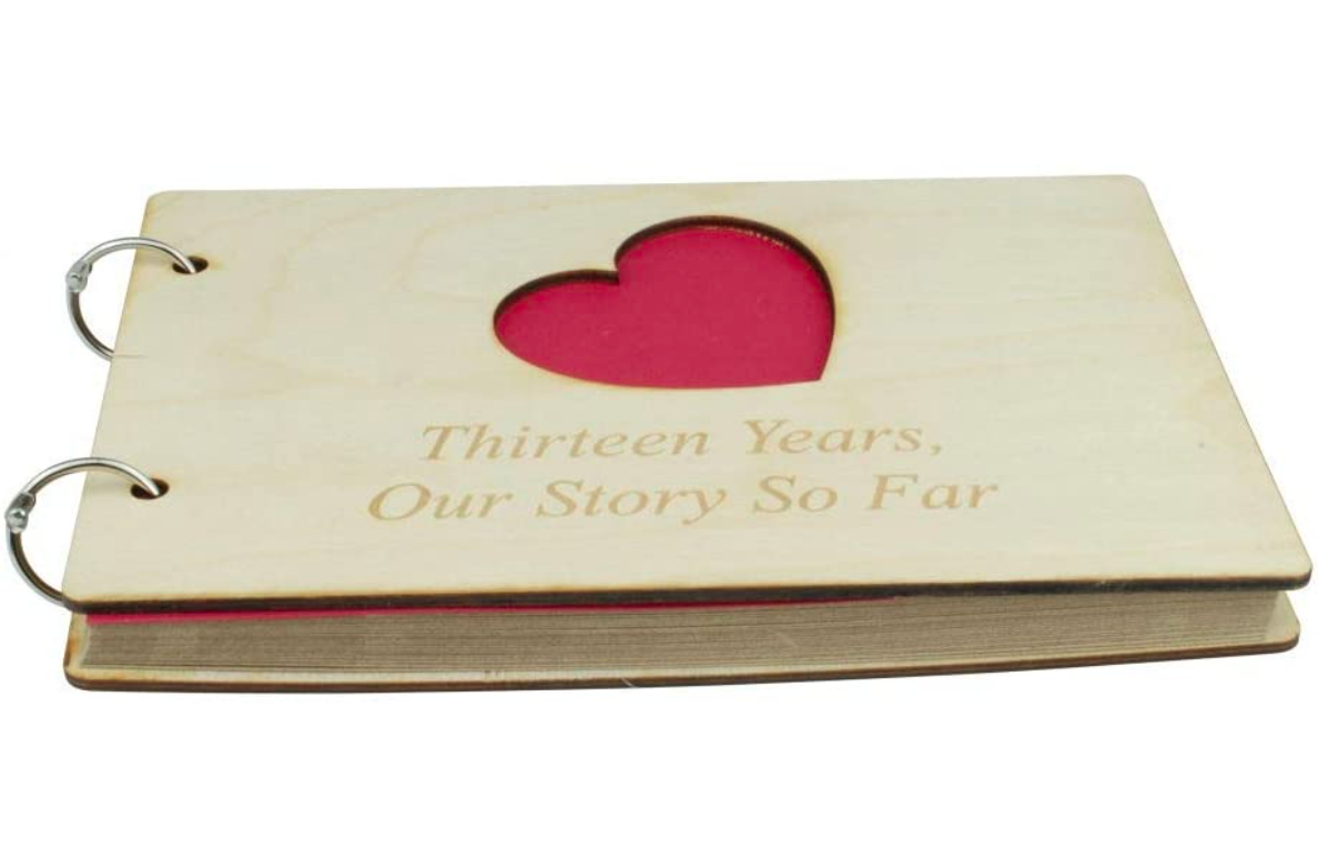13th-anniversary-gifts-scrapbook
