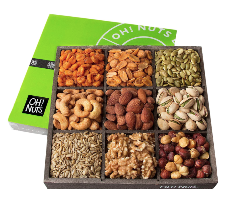 self-care-gift-basket-mixed-nuts