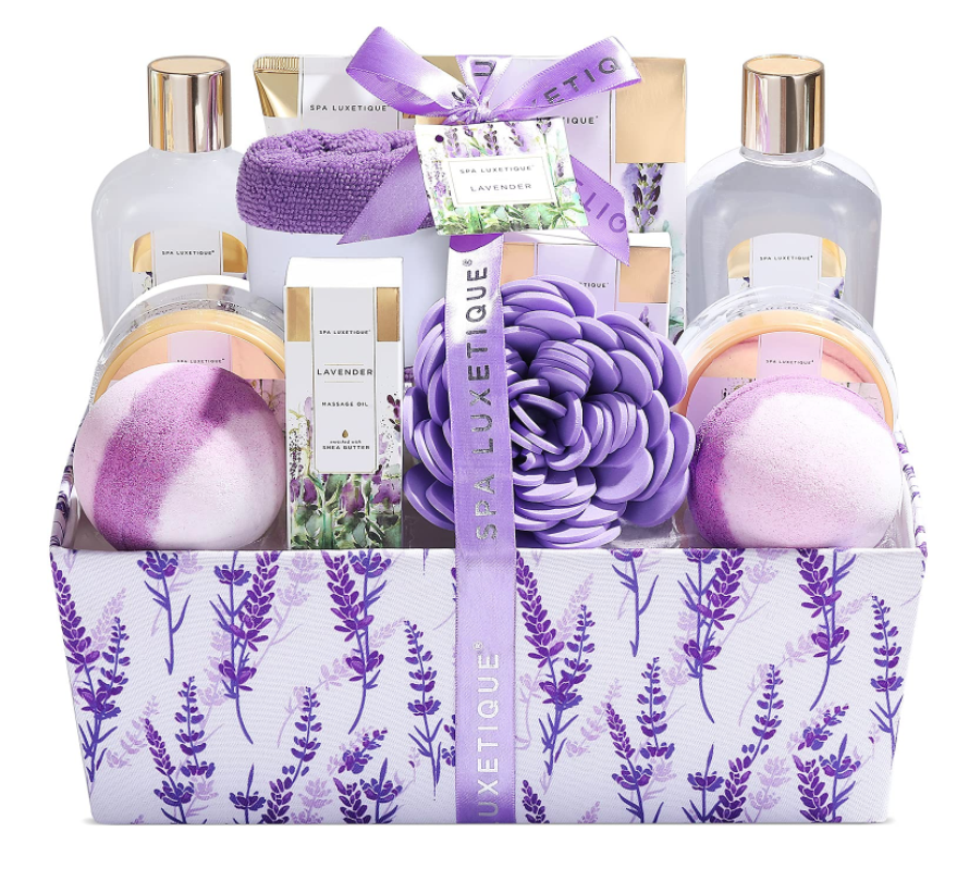 self-care-gift-basket-lavender-bath-set