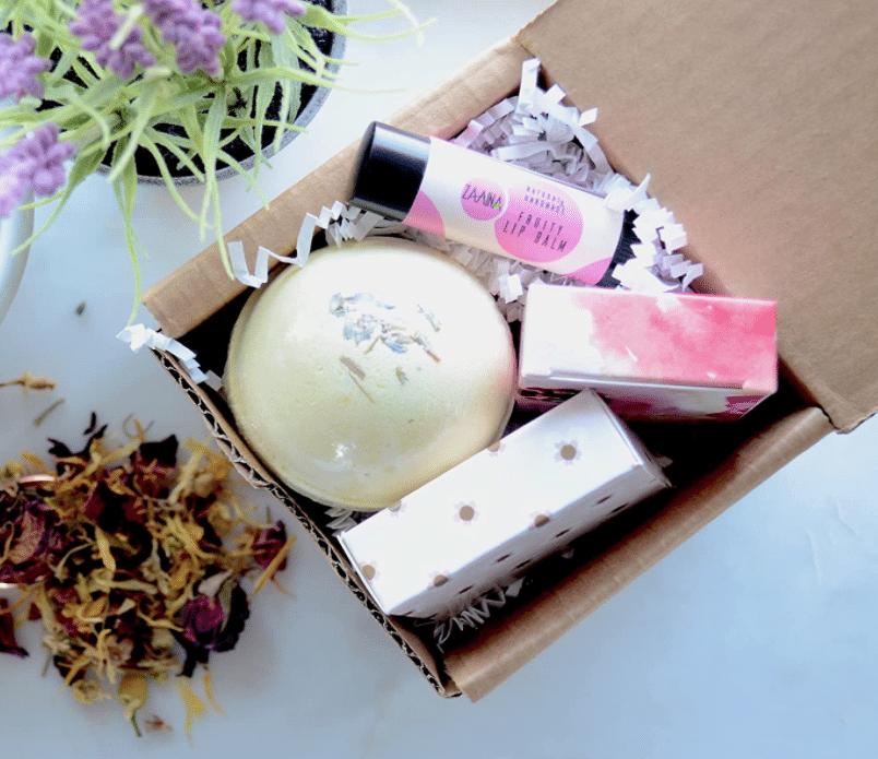 self-care-gift-basket-aromatherapy-bath-bomb