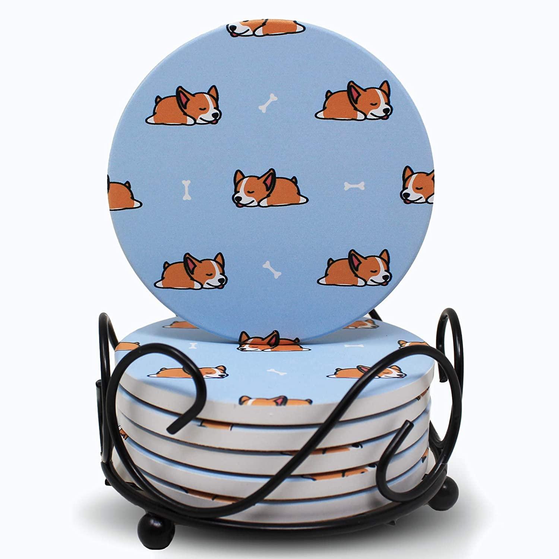 corgi-gifts-coasters