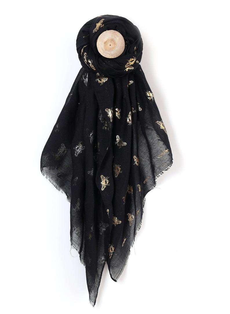 bee-lover-gifts-foil-print-scarf