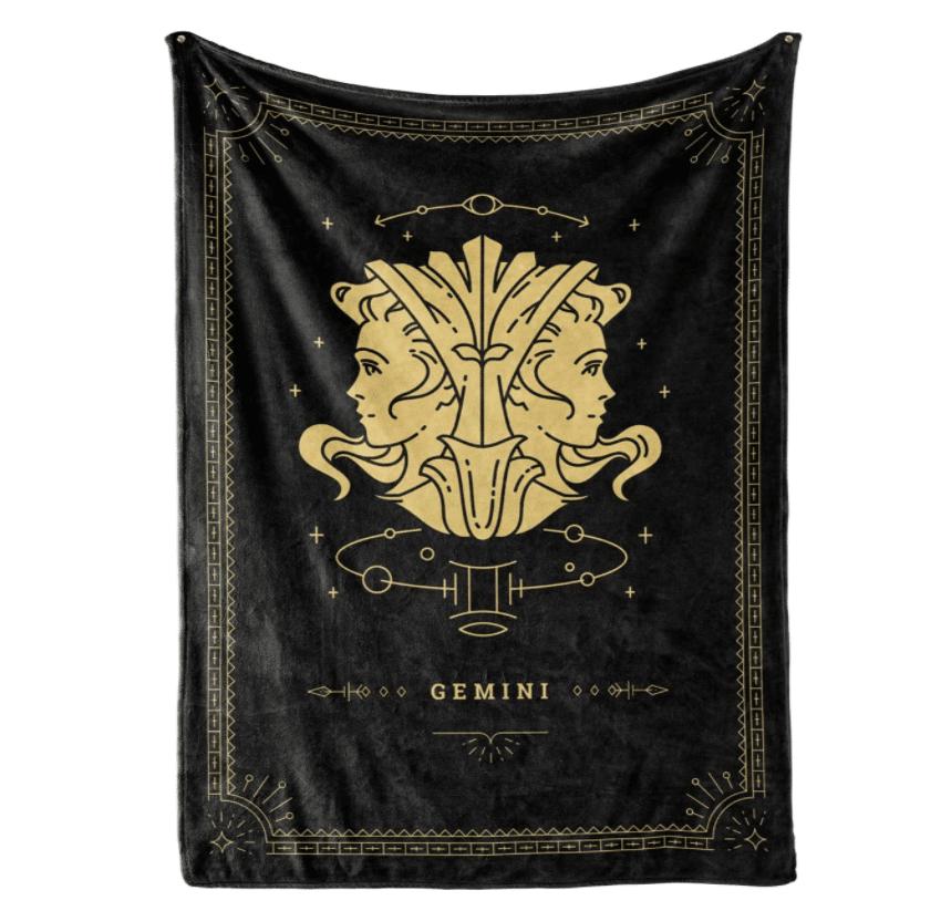 astrology-gifts-gemini-fleece-blanket