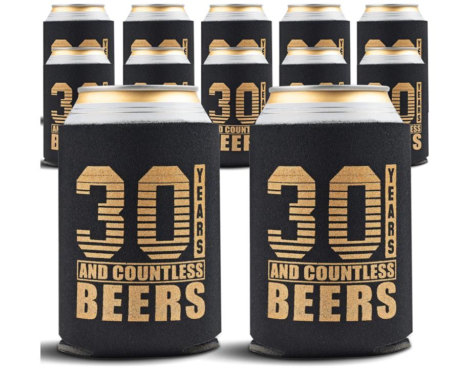 30th-birthday-gifts-for-men-beer-koozie