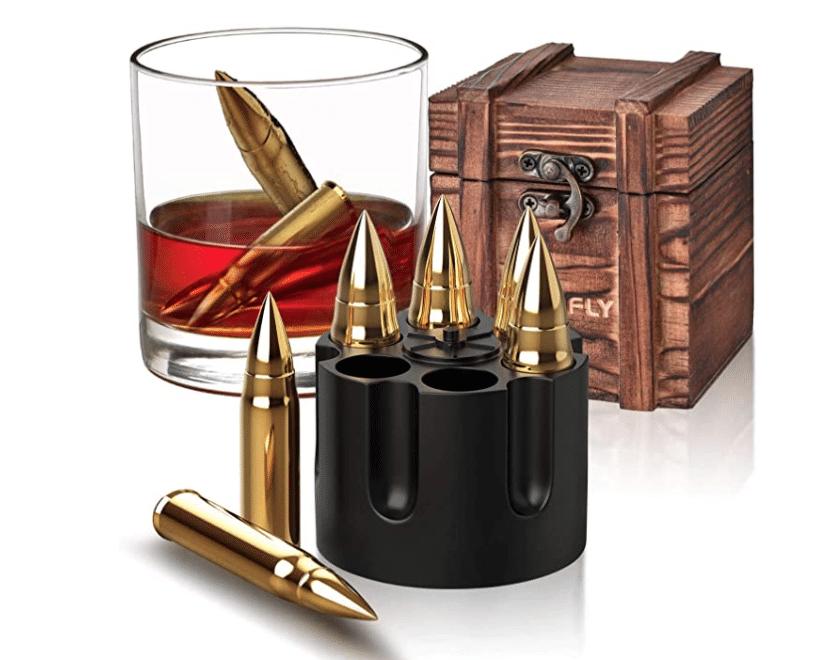 30th-birthday-gift-for-men-bullet-whiskey-stones