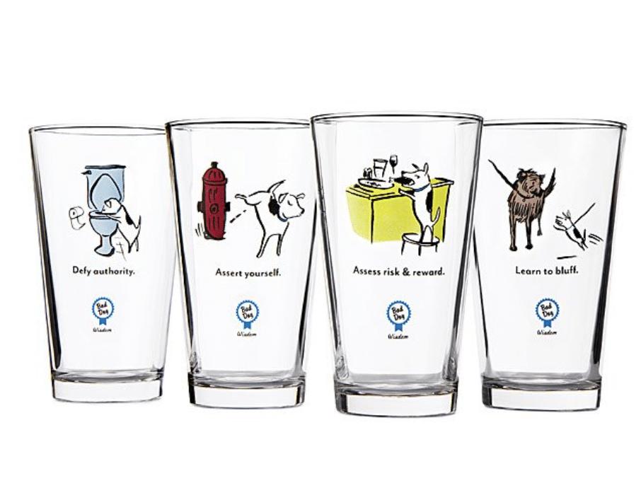 dog-dad-gifts-bad-dog-glass