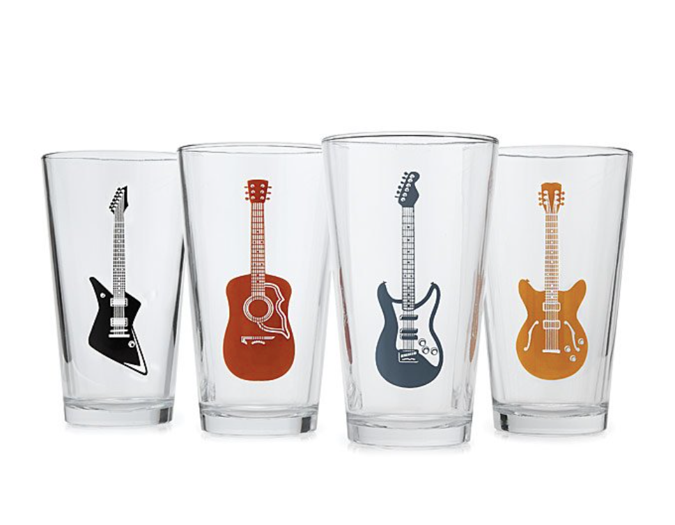 guitar-gifts-pint-glasses
