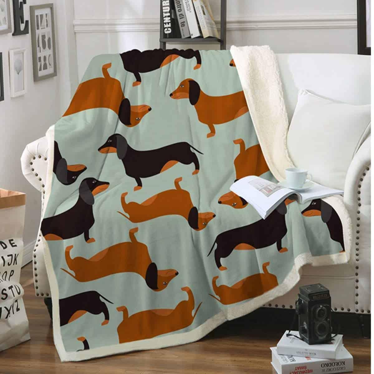 dachshund-gifts-blanket